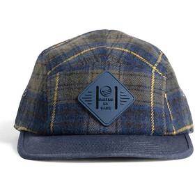 United By Blue Flannel 5-Panel Hat, blå/oliven